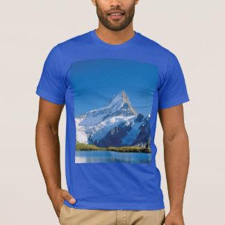 Camiseta Imagens suíças - lago glacial