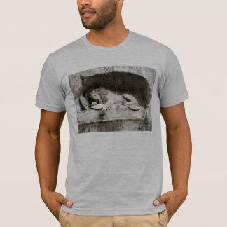 Camiseta Imagens suíças - o monumento do leão, Luzern