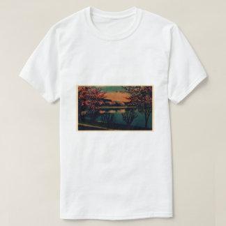 Camiseta Imagens temperamentais do lago da casa