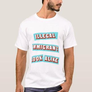 Camiseta Imigrante ilegal idêntico