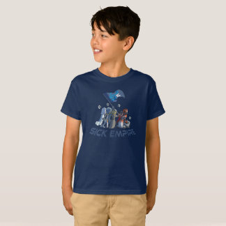 Camiseta Império doente - T 4 da bandeira do destino (cor