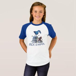 Camiseta Império doente - T 5 da bandeira do destino (cor