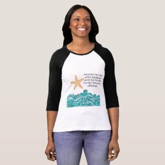 Camiseta Importa a esta uma estrela do mar