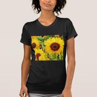 Camiseta Impressão amarelo dos girassóis