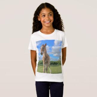 Camiseta Impressão bonito do cavalo - potro novo da