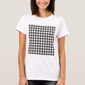 Camiseta impressão clássico do estilo do houndstooth