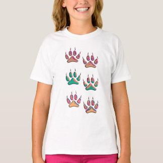 Camiseta Impressão colorido do lobo