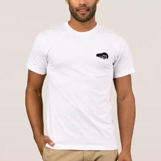 Camiseta Impressão crescente da parte traseira da estrela