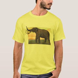 Camiseta Impressão da antiguidade do Mammoth Woolly