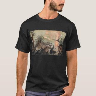 Camiseta Impressão da antiguidade do mundo pré-histórico