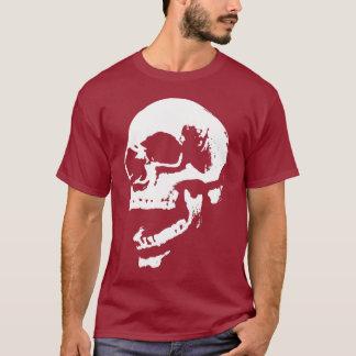 Camiseta impressão da boca do crânio