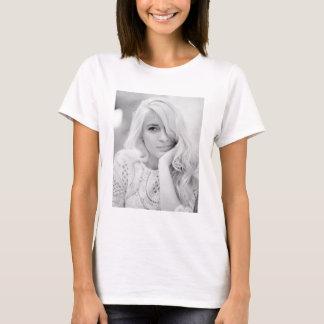 Camiseta Impressão da foto da rapariga