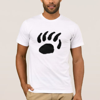 Camiseta Impressão da pata de urso