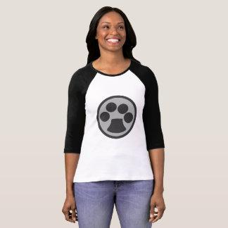 Camiseta Impressão da pata do gato do gatinho