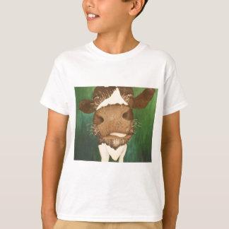 Camiseta impressão de meu título Giz da pintura da vaca um