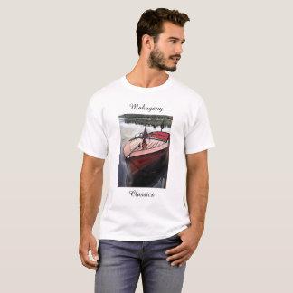 Camiseta Impressão de mogno clássico do barco em um t-shirt