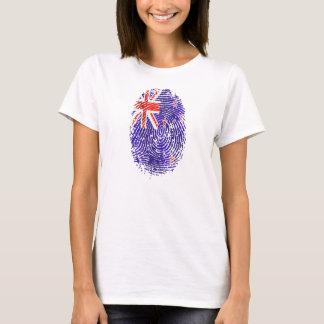 Camiseta impressão digital da bandeira do ADN Nova Zelândia