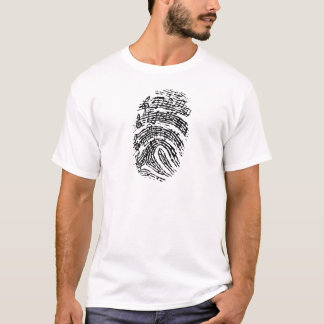 Camiseta Impressão digital da música