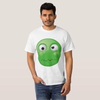 Camiseta Impressão disgusted grande do emoji no t-shirt