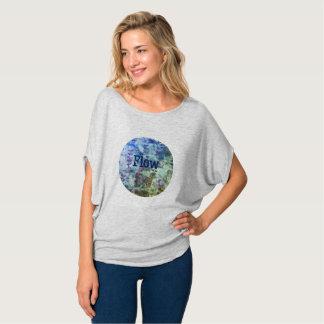 Camiseta Impressão do fluxo