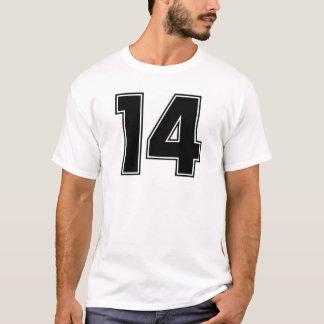 Camiseta Impressão do frontside do número 14