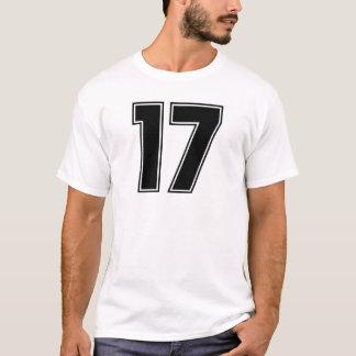 Camiseta Impressão do frontside do número 17