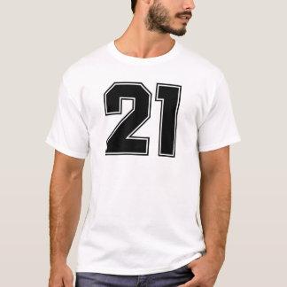 Camiseta Impressão do frontside do número 21