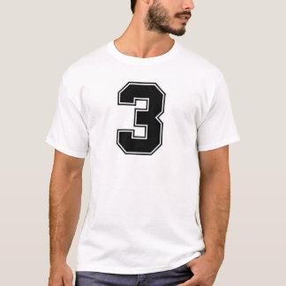 Camiseta Impressão do frontside do número 3