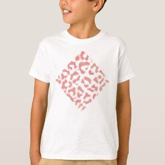 Camiseta Impressão do leopardo do pêssego