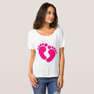 Camiseta Impressão do pé