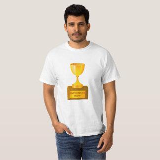 Camiseta Impressão do troféu da participação no t-shirt do