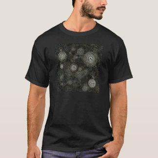 Camiseta Impressão do viagem do tempo de Steampunk, preto,