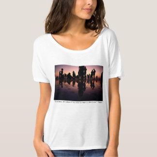 Camiseta Impressão dos seres humanos com o t-shirt das