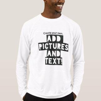 Camiseta Impressão em um T longo da luva - adicione imagens