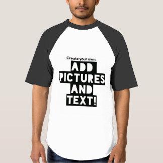 Camiseta Impressão em um t-shirt do basebol - adicione