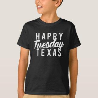 Camiseta Impressão feliz agradável de terça-feira Texas