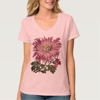 Camiseta Impressão floral cor-de-rosa bonito