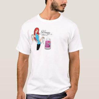 Camiseta Impressão magro da caixa da fibra com senhora