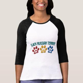Camiseta Impressão PRETO da pata da MAMÃ de TERRIER do