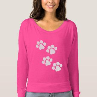Camiseta Impressões animais da pata