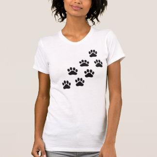 Camiseta Impressões da pata de Muiltiple