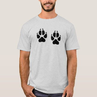 Camiseta Impressões do lobo