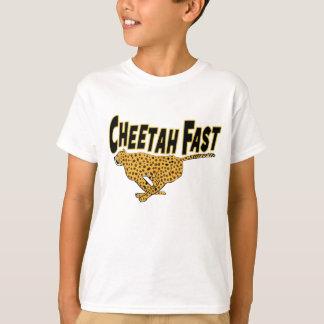 Camiseta Impressões rápidos do animal selvagem da chita dos