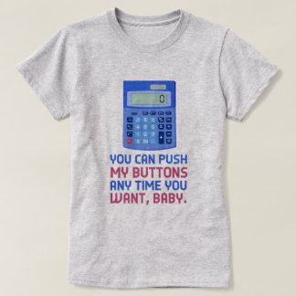Camiseta Impulso engraçado da calculadora do nerd da