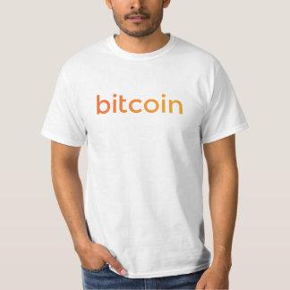Camiseta Inclinação do logotipo de Bitcoin