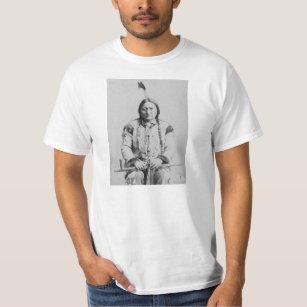 Camiseta Indiano do americano de Bull de assento