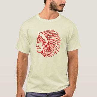 Camiseta Indiano do vermelho do Redskin