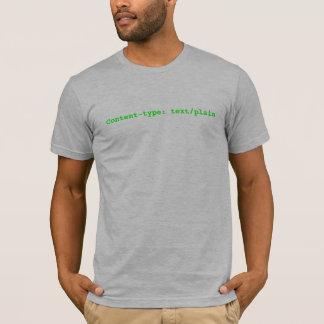 Camiseta Índice-tipo: texto/liso