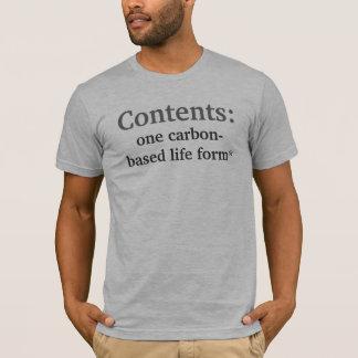 Camiseta Índices, negação