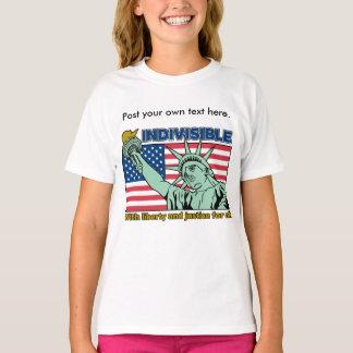 Camiseta Indivisível: Com liberdade e justiça para tudo